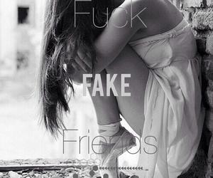fake, girl, and tears image