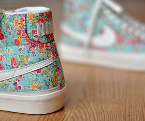 floral, shoes, and sneakers image