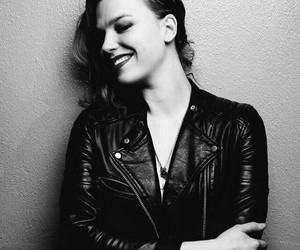black and white, singer, and halestorm image