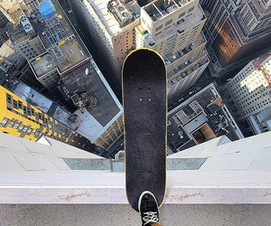 skate, skateboard, and city image