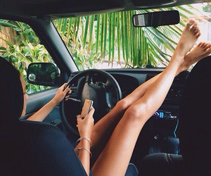 girl, summer, and car image