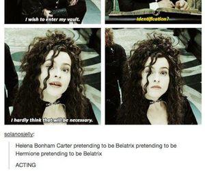 harry potter, bellatrix, and helena bonham carter image