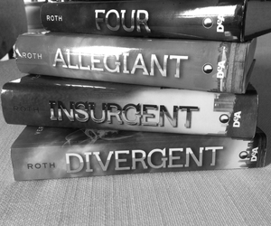 amity, black and white, and allegiant image
