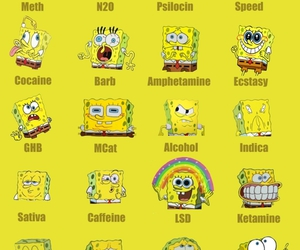 drugs, spongebob, and funny image
