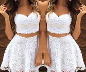 dresses, white, and fashion image
