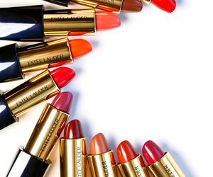 lipstick, estee lauder, and makeup image