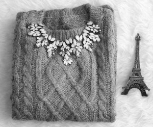 fashion, paris, and sweater image