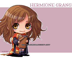 chibi, harry potter, and hermione granger image