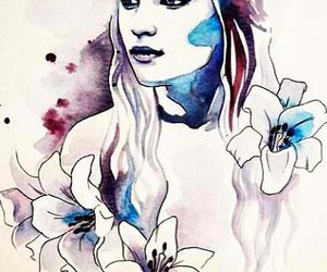 art, game of thrones, and watercolor image