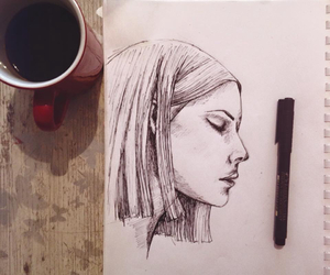 art, pen, and sketch image