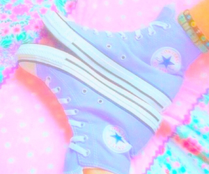 pastel, converse, and neon image