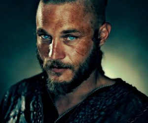 vikings, blue eyes, and ragnar image