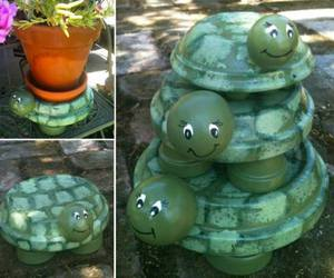 diy, garden, and turtle image