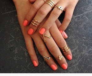 nails, rings, and cute image