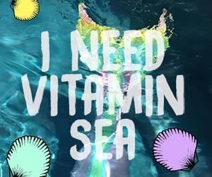 mermaid, sea, and summer image