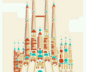Barcelona, poster, and travel image