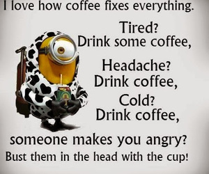 coffee, funny, and despicable me image