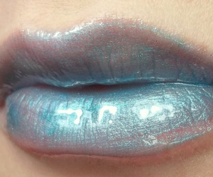 lips, blue, and pale image