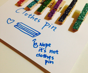 clothes pin, diy, and school supplies image