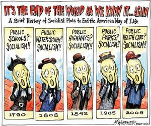political cartoon and socialism image