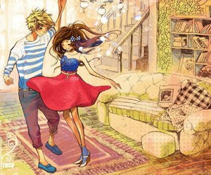 couple, dance, and anime image