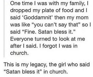 funny, satan, and tumblr image
