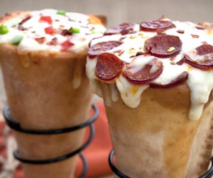 cheese, cooked, and cones image