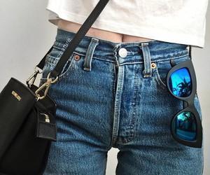 fashion, sunglasses, and jeans image