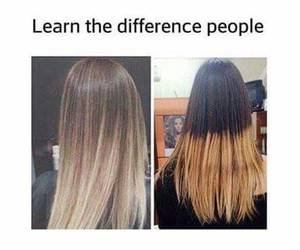 hair, funny, and difference image