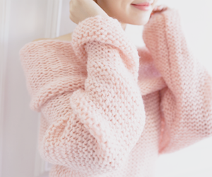 pink, sweater, and girly image