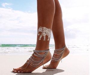 beach, fashion, and tattoo image