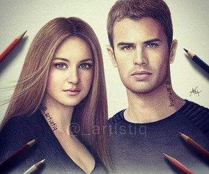 divergent, four, and drawing image