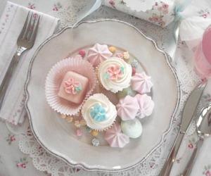 pink, pastel, and cupcake image