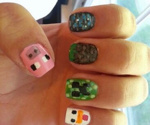 nails and minecraft image