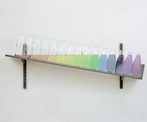 rainbow, colors, and bottle image
