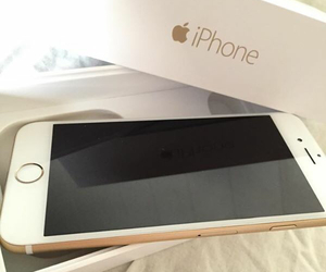 gold, iphone6, and iphone 6 image
