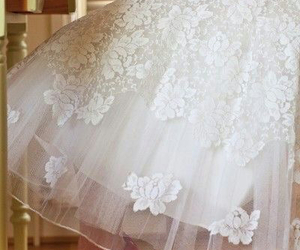 lace, tulle, and white image