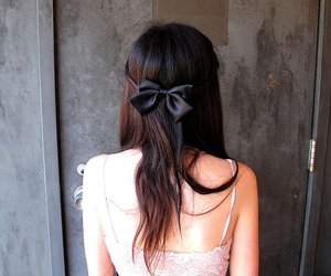 bow, photography, and girl image