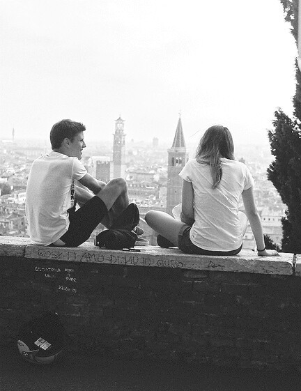 couple, talking, and together image