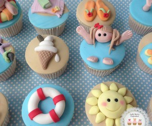 colours, cupcakes, and delicious image