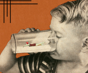 art, Collage, and milk image