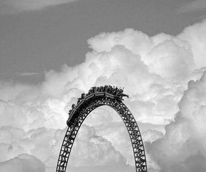 sky, clouds, and Roller Coaster image