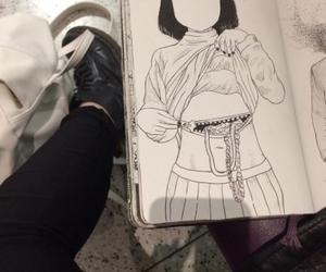 dark, draw, and grunge image