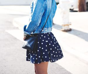 black, bow, and jeans jacket image