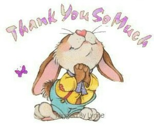 bunny, thank you note, and rabbit image