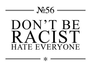 hate, racist, and text image