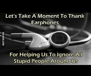 earphones, say thank you, and love them image