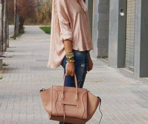 bag, beauty girl, and look image