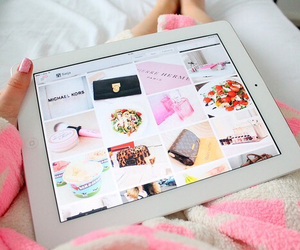 ipad, pink, and apple image