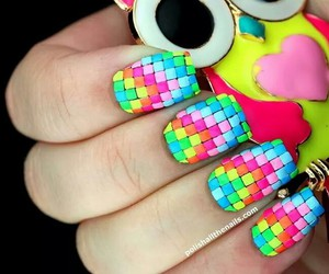 nails, cool, and neon image